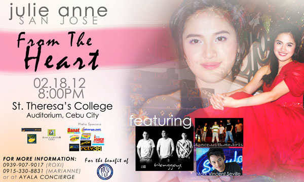 Julie Anne San Jose - From the heart concert Cebu